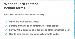 When to lock content behind forms?